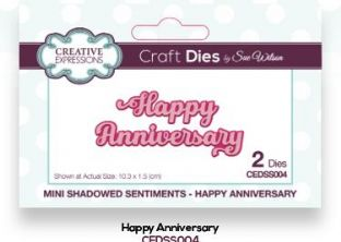 Mini Shadowed Sentiments Collection - Happy Anniversary